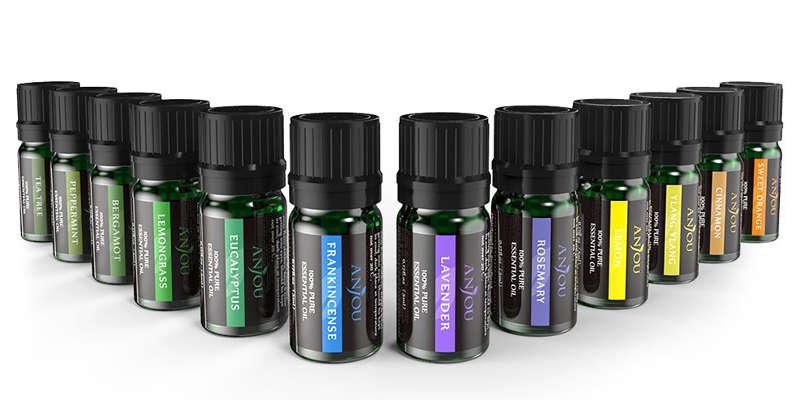 12 aceites esenciales puros ANJOU